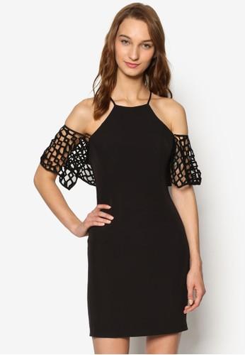 露肩空洞設計短裙, 服飾,esprit outlet 桃園 洋裝