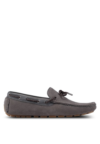 Burton Menswear London grey Suede Look Driving Loafers 6E4B7SHDA8E2DAGS_1