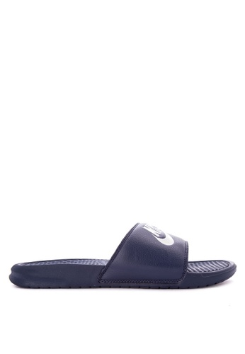 "Nike navy Men's Nike Benassi ""Just Do It"" Sandals 57CDCSHC9B3033GS_1"