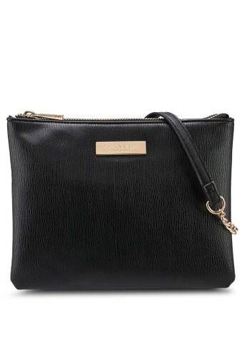 Carvela KG black Rolo Double Pouch Crossbody Bag 86695ACF82C31DGS_1