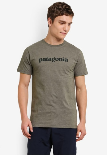 Patagonia green Text Logo T-Shirt PA549AA0RQETMY_1