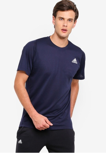 the best attitude a7906 061e1 adidas navy adidas performance freelift sport prime lite tee  308D8AAC0F78D1GS 1
