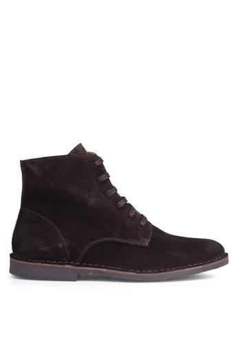 Selected Homme black Royce High Suede Boot 11EEFSHE5B64DCGS_1