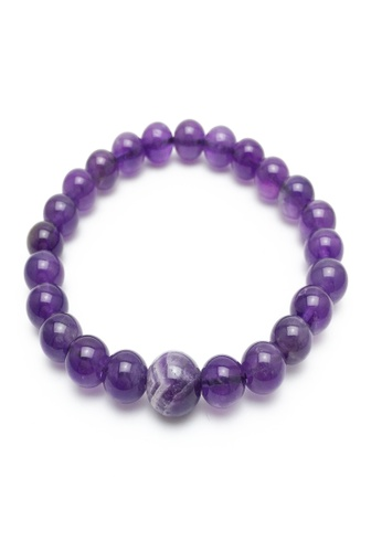 Memento Collection purple Ladies Earth Detailed Amethyst Bracelet ME060AC06UEZMY_1