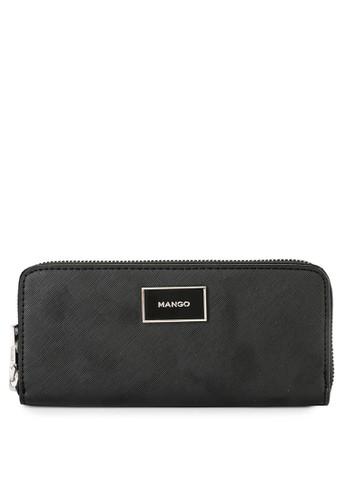 Mango black Zip Saffiano-Effect Wallet C4BE0ACBA58DE7GS_1