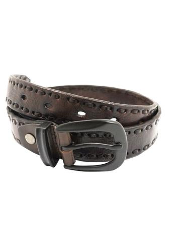Private Stitch brown PRIVATE STITCH Edge Belt PR777AC19AOAMY_1