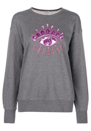 Kenzo grey Kenzo Embellished Eye Sweatshirt in Grey 60ECEAA05EE812GS_1
