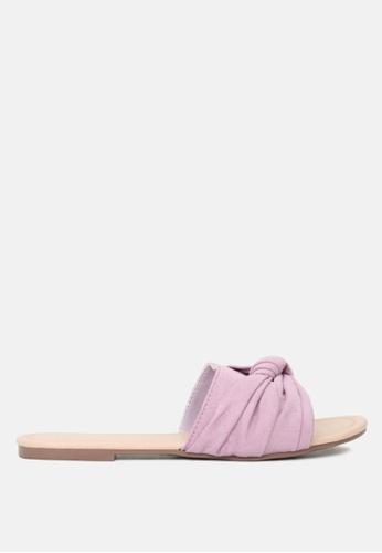 London Rag 紫色 平底拖鞋 59676SH7318E3DGS_1