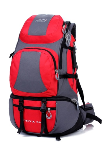 Local Lion Local Lion Water Resistant Hiking Traveling Backpack Red 38L LO780AC21FQSMY_1