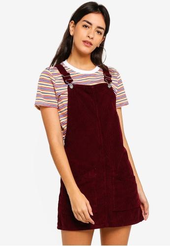a09093c9aa74 TOPSHOP red Burgundy Corduroy Pinafore Dress 07DA5AA0E9B4A8GS 1