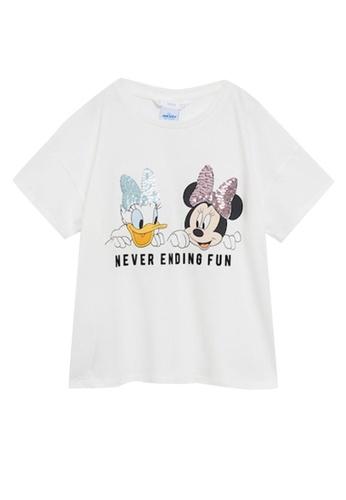 MANGO KIDS white Minnie And Daisy T-Shirt 9E70EKA3A0644AGS_1