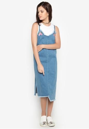 NEXT blue Denim Straight Cut Dress 308A3AA48799B8GS_1