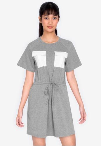 ZALORA BASICS multi Jersey Drawstring Dress 00F71AAE59C227GS_1