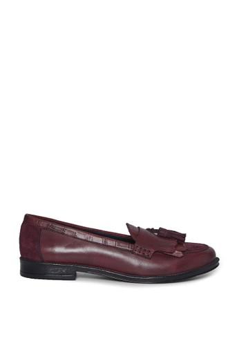 Dorothy Perkins red Burgundy Luster Loafers 87BA3SHC0D2E1DGS_1