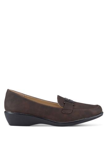 Noveni 褐色 懶人樂福鞋 NO978SH94RENMY_1