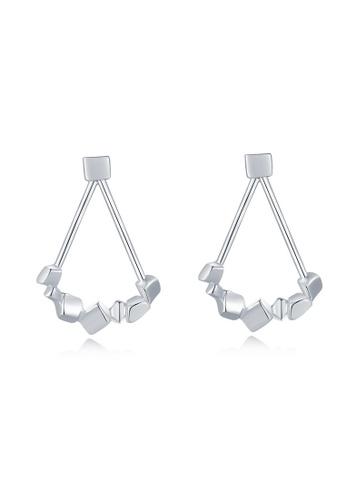 MBLife silver 925 Sterling Silver Stone Shape Teardrop Stud Earrings F59D2AC287D2D6GS_1
