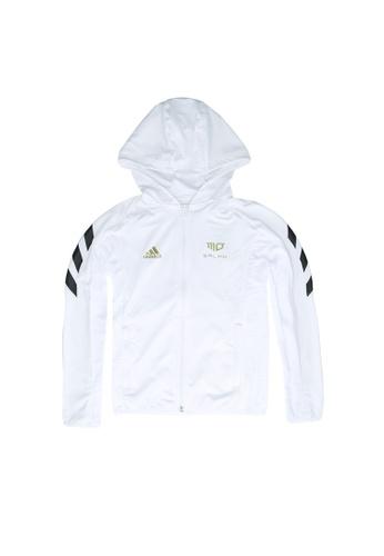 ADIDAS white salah football-inspired full-zip hoodie D4666KA9C72333GS_1