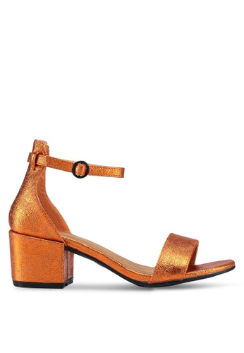 Rubi orange Ivy Low Block Heels B2C3BSH4B9BAA1GS_1