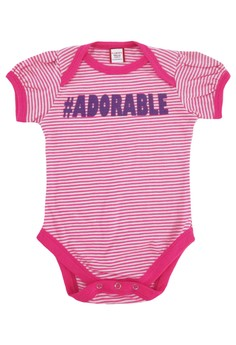 Pink Mini Stripes Adorable Onesie for Girls
