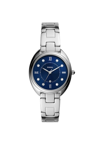 Fossil blue and silver Gabby Silver Stainless Steel Watch ES5087 964F7ACA0F458BGS_1