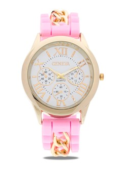 Silicone Watch with Chain 16131