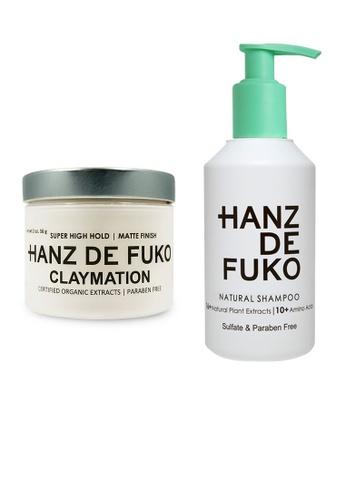 Hanz de Fuko Hanz de Fuko Natural Shampoo and Claymation Set HA369BE08NNVSG_1
