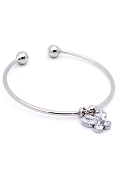 d4606e7339 Elitrend Butterfly Charm Korean Dainty Open Bangle in Silver Bundle S   12.90. Sizes One Size