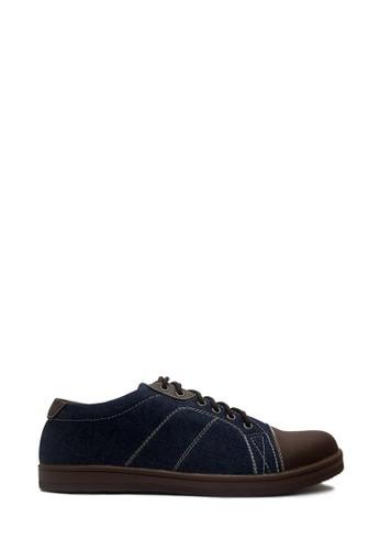 D-Island navy D-Island Shoes Sneakers Low Donald Comfort Denim Dark Blue B475ESH4E124DFGS_1