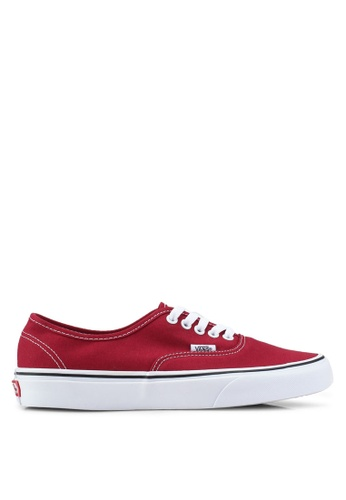 VANS white and red Authentic Sneakers 1EC60SH8D6BB69GS_1