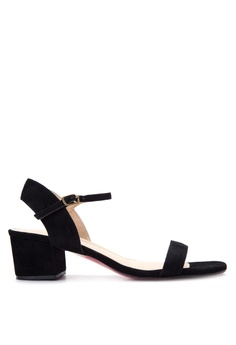 ccd4d3e96fe CARMELLETES black CHUNKY HEELED ANKLE STRAP SANDALS CA179SH95TOYPH 1