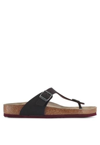 Birkenstock brown Gizeh Soft Footbed Desert Soil Camou Sandals 1ABF0SHCAF5934GS_1