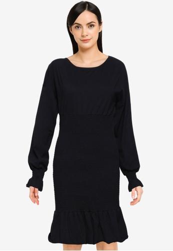 Noisy May black Nilay Smock Dress F4E90AAB389209GS_1