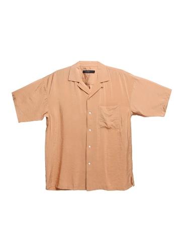 RAGEBLUE brown Casual Plain Shirt EE614AA230EBB2GS_1
