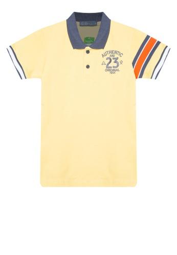 BOSSINI KIDS yellow Color Block Polo Shirt CF15BKAC61C1E7GS_1