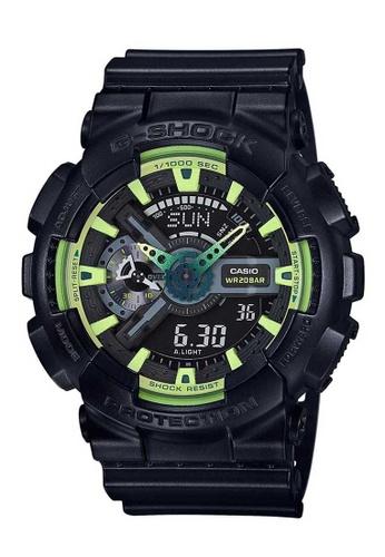 CASIO black Casio G-Shock Green and Black Resin Watch CC7FDACA1B11B6GS_1