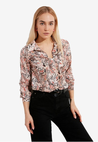 Trendyol multi Printed Loose Fit Shirt 18D9AAA41C0212GS_1