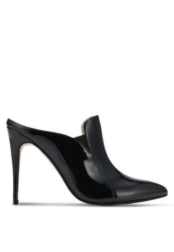 ZALORA 黑色 Double Pu Slip On Heels 89281SH616429CGS_1