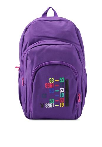 Playboy purple Playboy Casual Backpack PL371AC0SJZ9MY_1