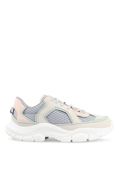 Mango white and multi Platform Lace-Up Sneakers 7E893SH4E488D1GS 1 7b95ed72e