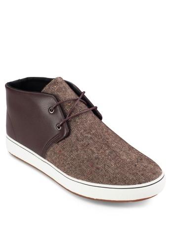 撞色混合拼接低筒esprit hk store靴, 鞋, 休閒鞋