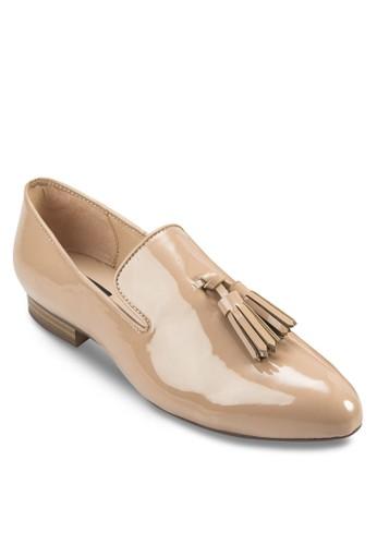 漆皮流蘇樂福mango門市鞋, 女鞋, 鞋
