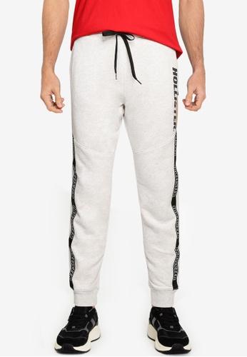 Hollister grey Sport Logo Tape Jogger Pants 3C1A6AA647B4D5GS_1