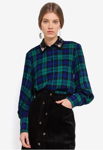 ESPRIT green Woven Long Sleeve Shirt B9721AADB3A8DEGS_1