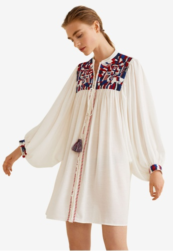 Mango white Embroidered Tunic 1AF56AACB071DDGS_1