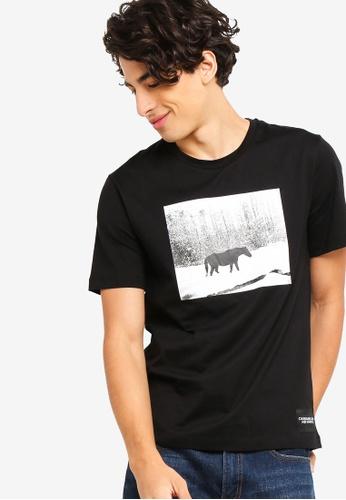 bf6be4b50205f9 Calvin Klein black Andy Warhol Landscape Regular Short Sleeve  FE730AAF224233GS 1