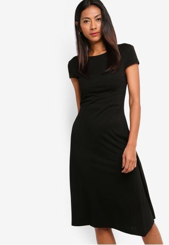 fe0463c5931 Shop ZALORA BASICS Basic Asymmetric Hem Jersey Dress Online on ZALORA  Philippines