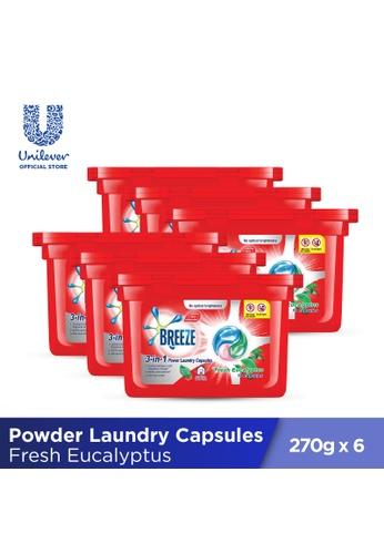Breeze Breeze Fresh Eucalyptus 3-in-1  Power Laundry Capsules 270g (18 pcs x 6 boxes) 58BB5ES60BDB96GS_1