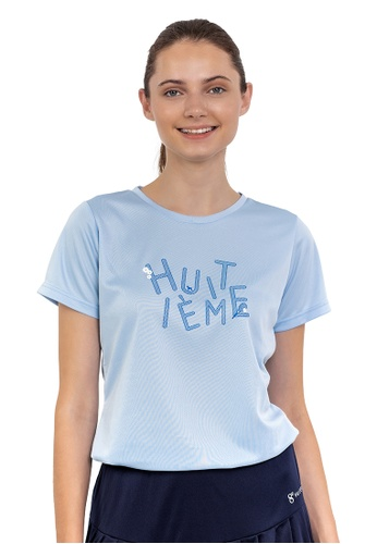 Huitieme blue HUITIÈME FLORAL DRI FIT LIGHT BLUE TEE. CBBA7AA29A75E6GS_1