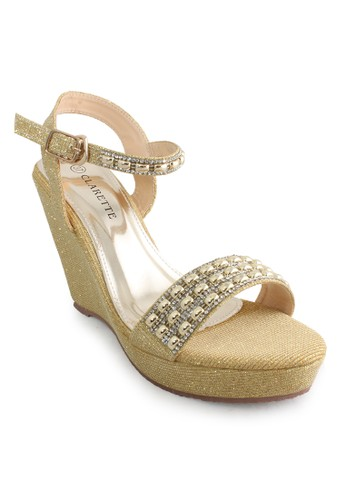 CLARETTE gold Clarette Wedges Kamala Gold CL076SH06CMFID_1