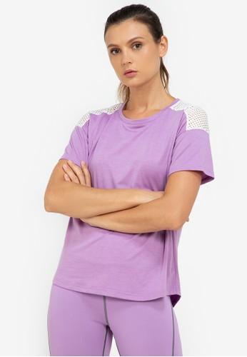 ZALORA ACTIVE multi Mesh Yoke Sports T-Shirt 5AD83AAC87C3CEGS_1